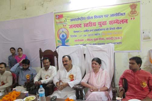 बदायूं जिले में भी उल्लास के साथ मना अंतर्राष्ट्रीय योग दिवस