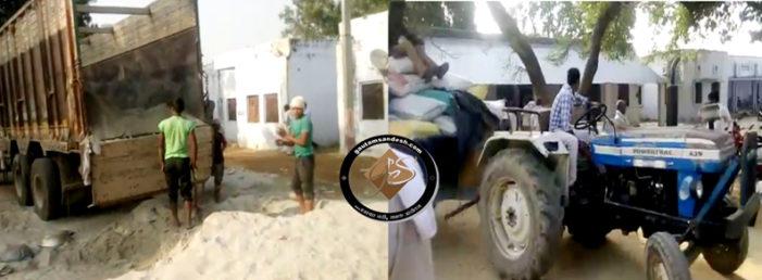 अवैध खनन करने वालों से जब्त कर खुलेआम रेत बेच रहे हैं थानाध्यक्ष