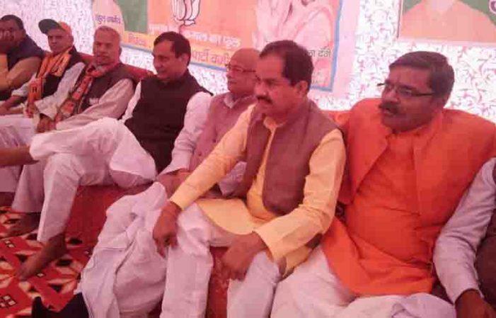 नगर पंचायत वजीरगंज में जुटे भारतीय जनता पार्टी के धुरंधर नेता